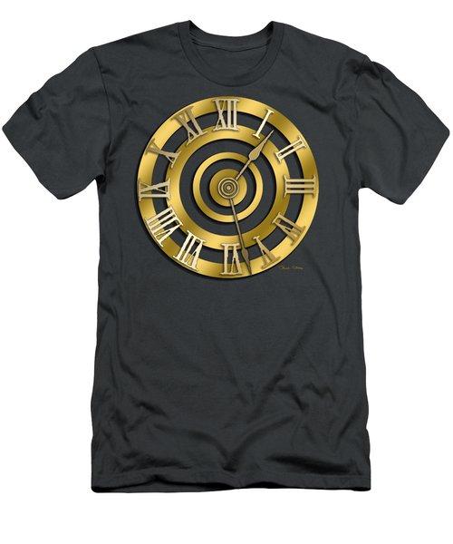 Circular Clock Design Men's T-Shirt (Slim Fit) by Chuck Staley