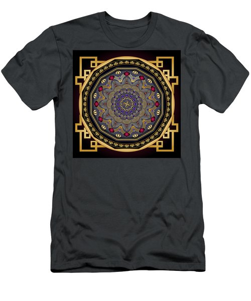 Men's T-Shirt (Slim Fit) featuring the digital art Circularium No 2651 by Alan Bennington