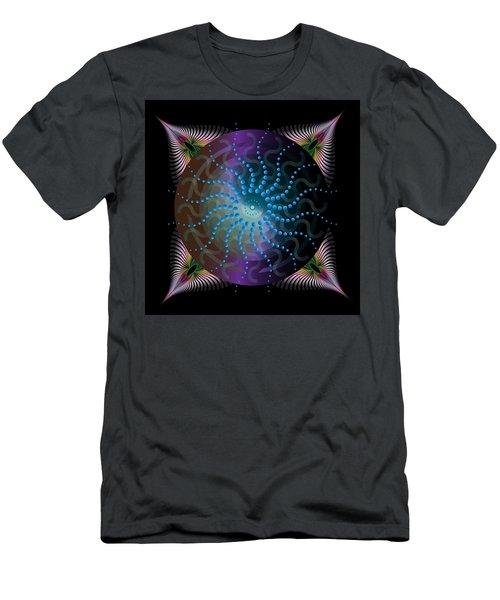 Men's T-Shirt (Slim Fit) featuring the digital art Circulariun No 2631 by Alan Bennington