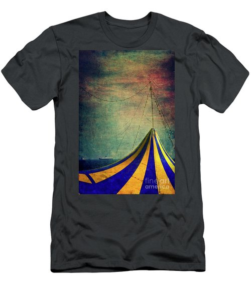 Circus With Distant Ships II Men's T-Shirt (Slim Fit) by Silvia Ganora