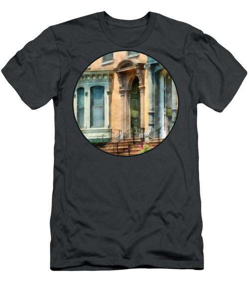 Cities - Albany Ny Brownstone Men's T-Shirt (Athletic Fit)