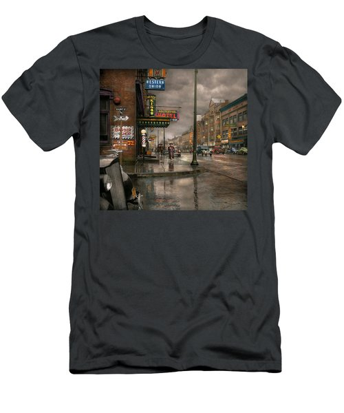 City - Amsterdam Ny -  Call 666 For Taxi 1941 Men's T-Shirt (Athletic Fit)