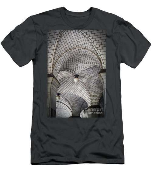 Men's T-Shirt (Slim Fit) featuring the photograph City Hall Ceilings by Judy Wolinsky
