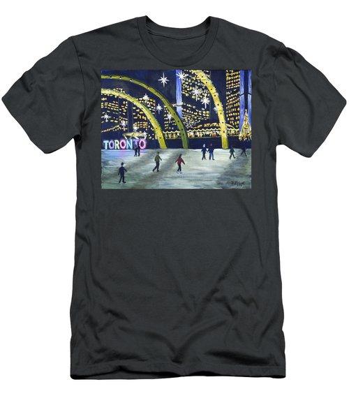 City Hall Christmas Men's T-Shirt (Slim Fit) by Diane Arlitt