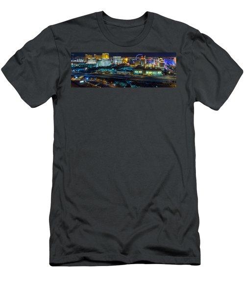 City Lifescape View Las Vegas Men's T-Shirt (Athletic Fit)