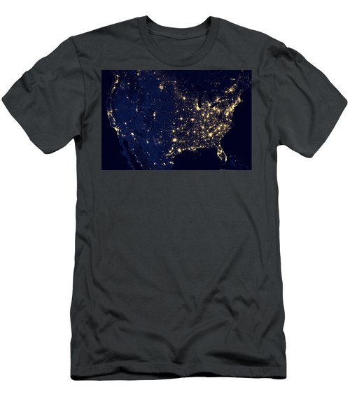 City Lights Of The United States Men's T-Shirt (Athletic Fit)