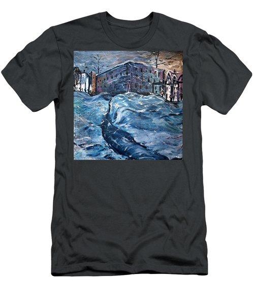 City Snow Storm Men's T-Shirt (Athletic Fit)