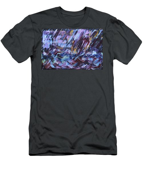 City Storm Abstract Men's T-Shirt (Athletic Fit)