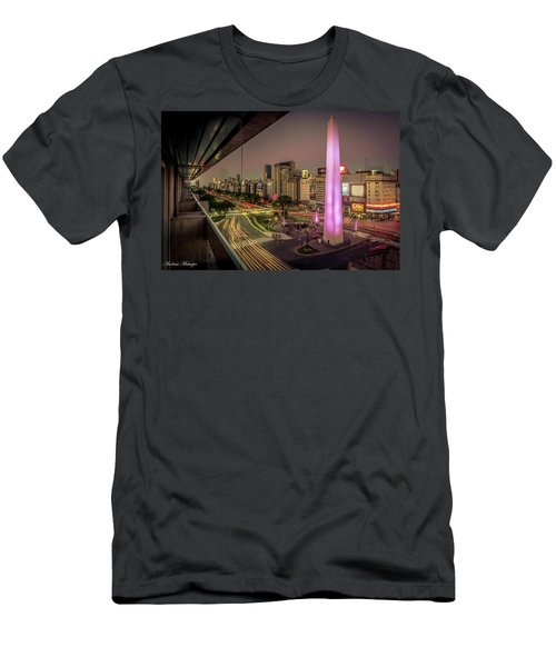 Men's T-Shirt (Slim Fit) featuring the photograph City Sunset by Andrew Matwijec