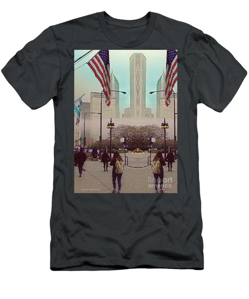 Cityscape With A Bit Of Fog Men's T-Shirt (Athletic Fit)