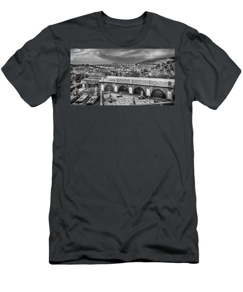 Men's T-Shirt (Slim Fit) featuring the photograph Cityscape Of Florence And Cemetery by Sonny Marcyan
