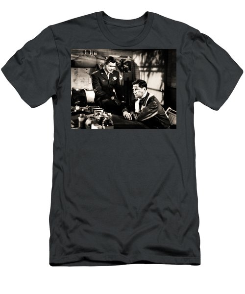Men's T-Shirt (Athletic Fit) featuring the photograph Clark Gable Hollywood Heart Throb In The Movie Command Decision by R Muirhead Art
