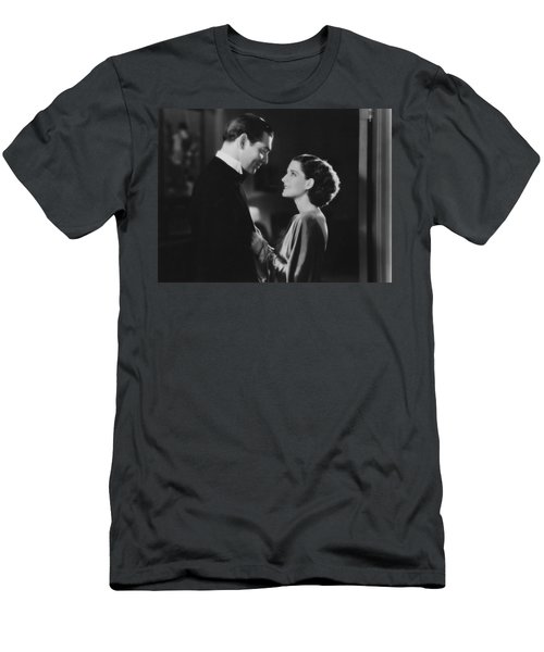 Men's T-Shirt (Athletic Fit) featuring the photograph Clark Gable Staring In A Free Soul by R Muirhead Art
