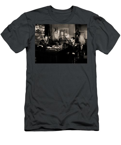 Men's T-Shirt (Athletic Fit) featuring the photograph Clark Gable Staring In Command Decision by R Muirhead Art