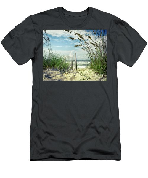 To The Beach Sea Oats Men's T-Shirt (Athletic Fit)