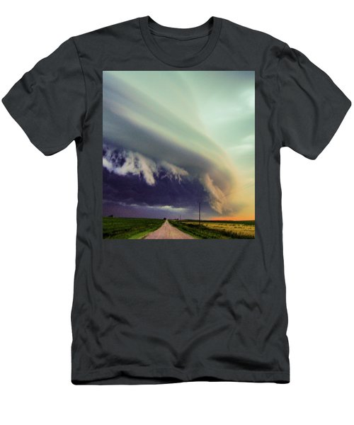 Classic Nebraska Shelf Cloud 024 Men's T-Shirt (Athletic Fit)