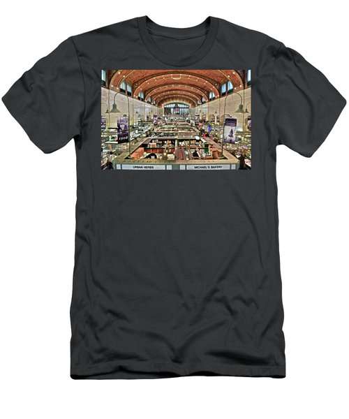 Classic Westside Market Men's T-Shirt (Slim Fit) by Frozen in Time Fine Art Photography