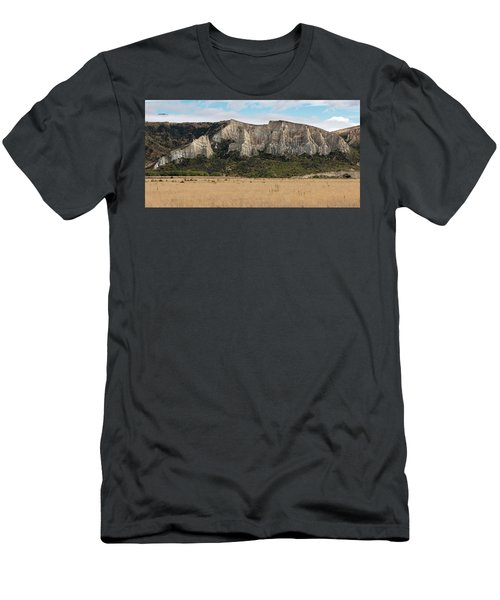 Men's T-Shirt (Athletic Fit) featuring the photograph Clay Cliffs Omarama by Gary Eason