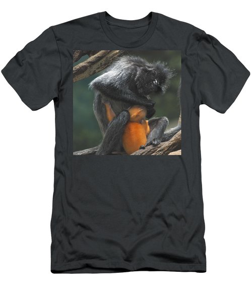 Men's T-Shirt (Slim Fit) featuring the photograph Cleaning Baby by Richard Bryce and Family