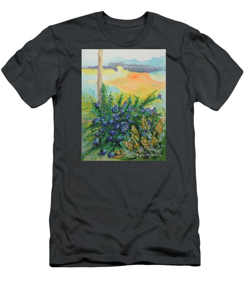 Men's T-Shirt (Slim Fit) featuring the painting Cleansed by Holly Carmichael