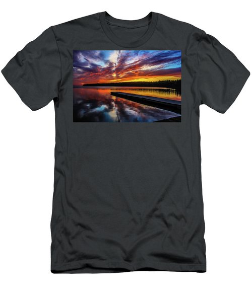 Clear Lake At Sunset. Riding Mountain National Park, Manitoba, Canada. Men's T-Shirt (Athletic Fit)