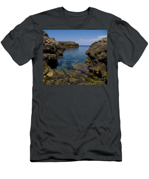 Clear Water Of Mallorca Men's T-Shirt (Slim Fit) by Anastasy Yarmolovich