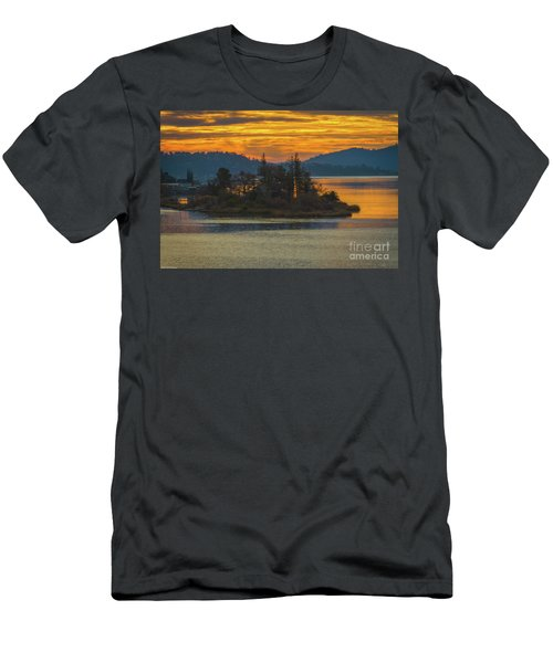 Clearlake Gold Men's T-Shirt (Slim Fit) by Mitch Shindelbower