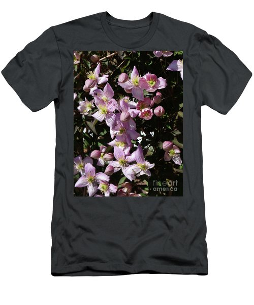 Clematis Montana  In Full Bloom Men's T-Shirt (Athletic Fit)