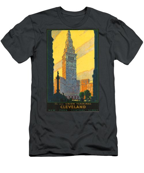 Cleveland - Vintage Travel Men's T-Shirt (Athletic Fit)