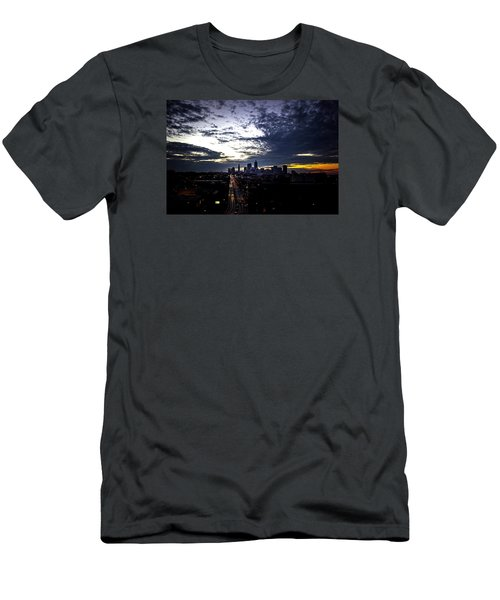 Cleveland At Dusk Men's T-Shirt (Athletic Fit)