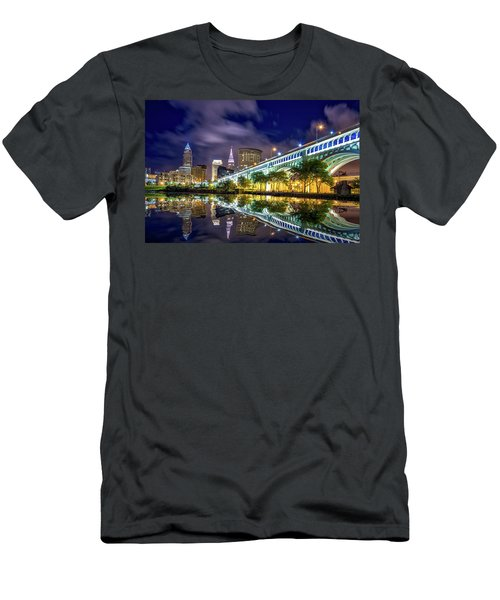 Men's T-Shirt (Slim Fit) featuring the photograph Cleveland Skyline 4 by Emmanuel Panagiotakis