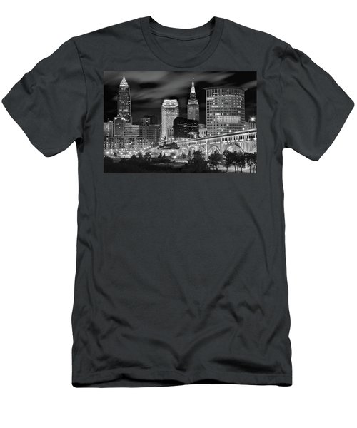 Charcoal Night  Men's T-Shirt (Athletic Fit)