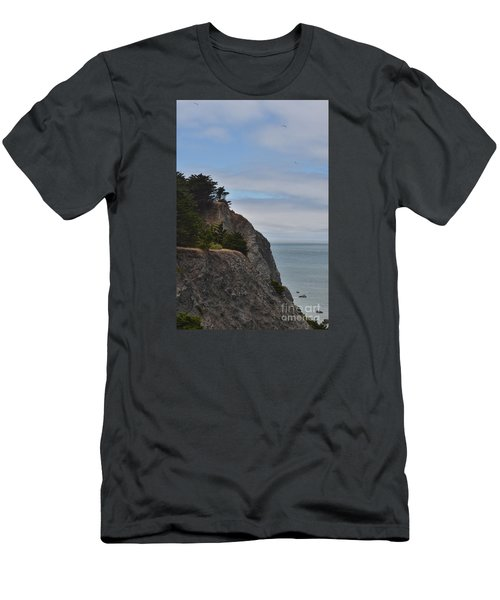 Cliff Hanger Men's T-Shirt (Slim Fit) by Judy Wolinsky