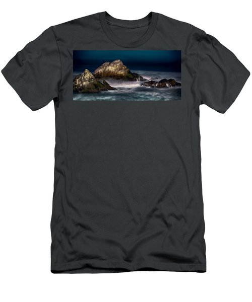 Men's T-Shirt (Athletic Fit) featuring the photograph Cliff House San Francisco Seal Rock by Steve Siri