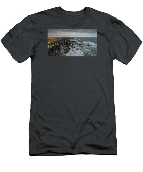 Men's T-Shirt (Athletic Fit) featuring the photograph Cliffs At Arnarstapi by James Billings