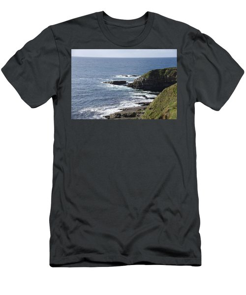 Cliffs Overlooking Donegal Bay II Men's T-Shirt (Slim Fit) by Greg Graham