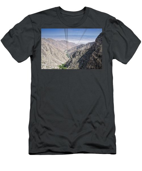 Climbing Mount San Jacinto Men's T-Shirt (Athletic Fit)