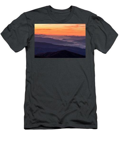 Clingmans Dome Fall Sunrise Men's T-Shirt (Athletic Fit)