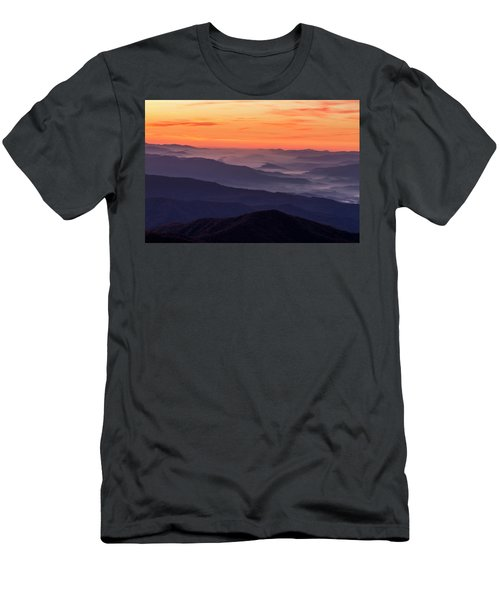 Clingmans Dome Fall Sunrise Men's T-Shirt (Athletic Fit)
