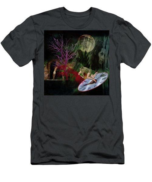 Clock Hair Disaster Men's T-Shirt (Athletic Fit)