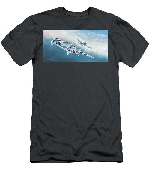 Close Encounter With A Focke-wulf Men's T-Shirt (Slim Fit) by Douglas Castleman