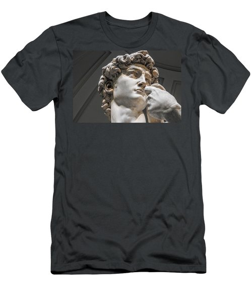 Close Up Of David By Michelangelo Men's T-Shirt (Athletic Fit)