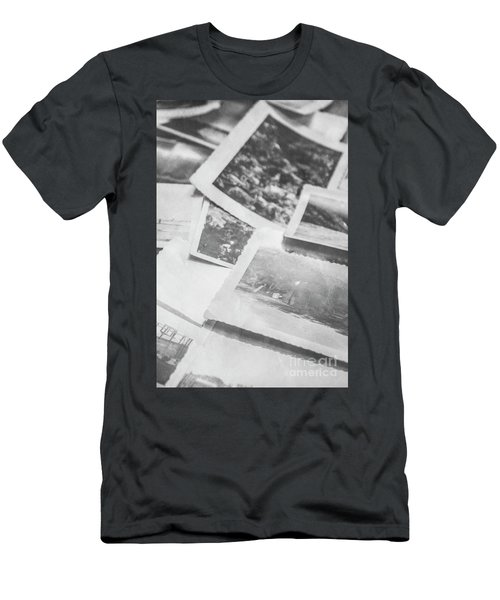 Close Up On Old Black And White Photographs Men's T-Shirt (Athletic Fit)