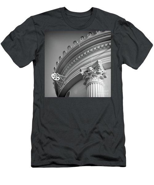 Closeup Of Lighthouse  -58750 Men's T-Shirt (Slim Fit) by John Bald