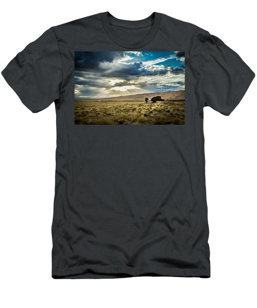 Cloud Break Over Sand Dunes Men's T-Shirt (Athletic Fit)
