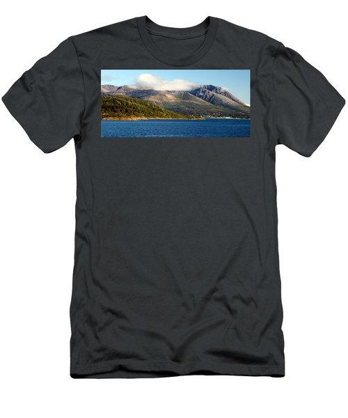 Cloud-capped Mountains Men's T-Shirt (Athletic Fit)