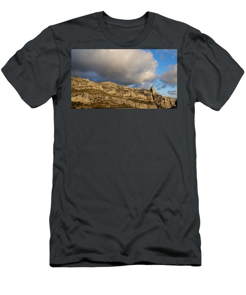 Men's T-Shirt (Athletic Fit) featuring the photograph Cloud Kiss by August Timmermans