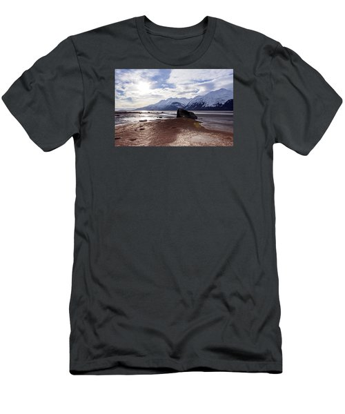 Men's T-Shirt (Slim Fit) featuring the photograph Cloud Shadows At Low Tide. by Michele Cornelius