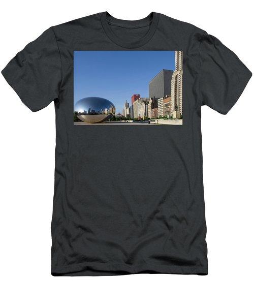 Cloudgate Reflects Michigan Avenue  Men's T-Shirt (Athletic Fit)