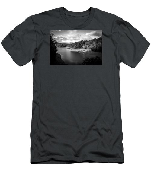 Men's T-Shirt (Slim Fit) featuring the photograph Clouds Above The Nantahala River In Nc by Kelly Hazel